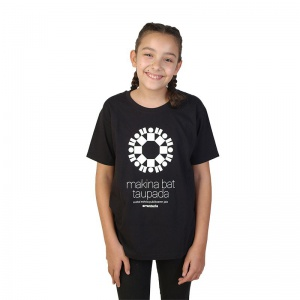 Camiseta negra niñas y niños
