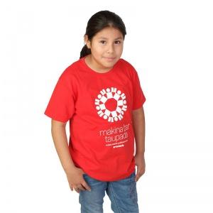 Camiseta roja niñas y niños