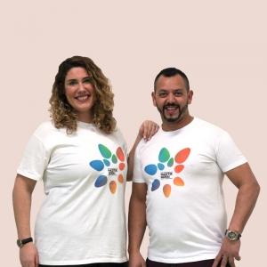 Camiseta blanca unisex...